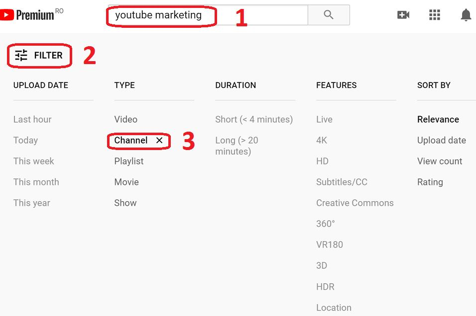 doing competitor research on youtube